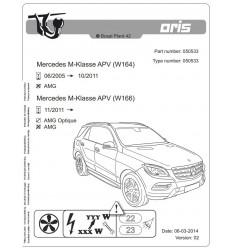 Фаркоп на Mercedes GLE 050-533