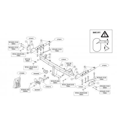 Фаркоп на Subaru Forester 570200