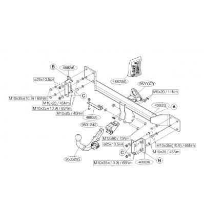 Фаркоп на BMW 5 488200