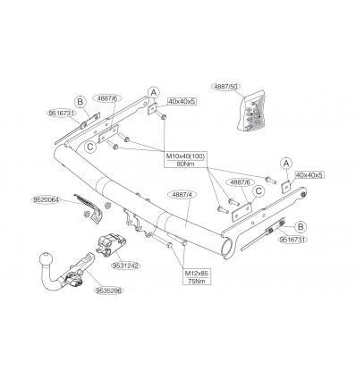 Фаркоп на Ford Mondeo 488700