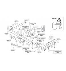 Фаркоп на Honda Accord 505700
