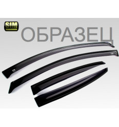 Дефлекторы боковых окон на Mitsubishi Outlander SMIOUT0032