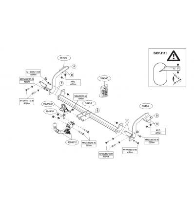 Фаркоп на Citroen DS5 554300