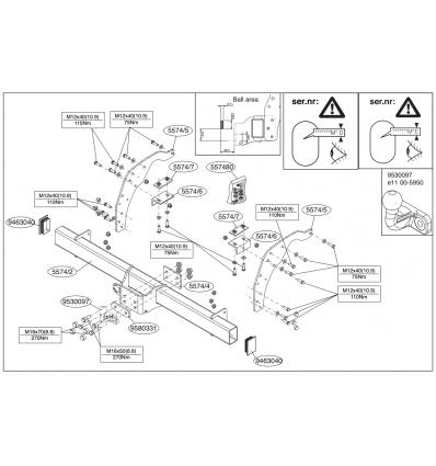 Фаркоп на Mazda BT50 557400
