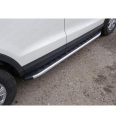 Пороги алюминиевые с пластиковой накладкой на Audi Q3 AUDIQ315-01AL