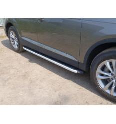 Пороги алюминиевые с пластиковой накладкой на Audi Q7 AUDIQ715-01AL