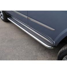 Пороги с площадкой (нерж. лист)  на Cadillac Escalade CADESC15-13