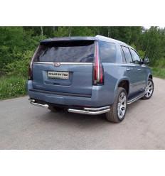 Защита задняя (уголки двойные) на Cadillac Escalade CADESC15-18