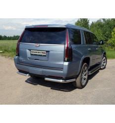Защита задняя (уголки) на Cadillac Escalade CADESC15-19