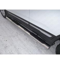 Пороги овальные с накладкой на Chery Tiggo 5 CHERTIG514-09