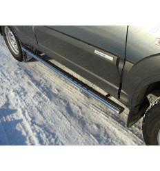 Пороги овальные с проступью на Chevrolet Niva CHEVNIV12-02