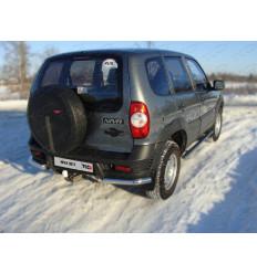 Защита задняя (уголки) на Chevrolet Niva CHEVNIV12-05