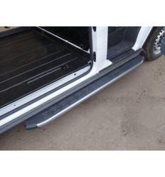 Порог алюминиевый с пластиковой накладкой (карбон серебро) на Ford Transit FORTRAN16-07SL