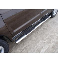 Пороги овальные с накладкой на Geely Emgrand X7 GEELEMGX715-08