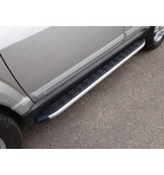 Пороги алюминиевые с пластиковой накладкой на Great Wall Hover H3 GRWALH314-17AL