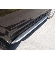 Пороги алюминиевые с пластиковой накладкой на Great Wall Hover H5 GRWALH514-18AL