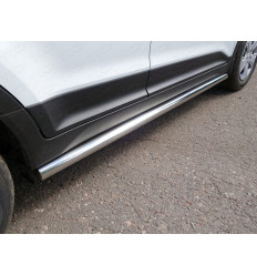 Пороги труба на Hyundai Creta HYUNCRE16-23