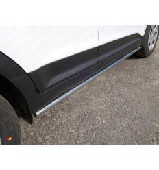 Пороги труба на Hyundai Creta HYUNCRE16-24
