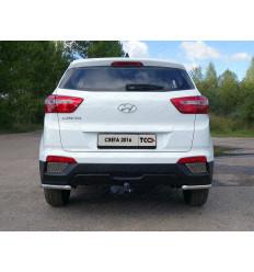 Защита задняя (уголки) на Hyundai Creta HYUNCRE16-34