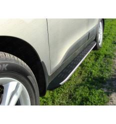 Пороги алюминиевые с пластиковой накладкой (из 2-х мест) на Hyundai ix35 HYUNIX35-10AL