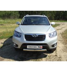Защита передняя нижняя (овальная) на Hyundai Santa Fe HYUNSF10-02