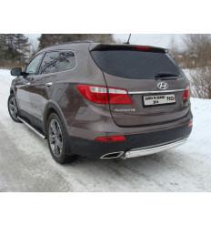 Защита задняя (овальная) на Hyundai Santa Fe HYUNSFGR14-13