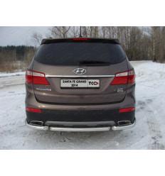 Защита задняя на Hyundai Santa Fe HYUNSFGR14-17