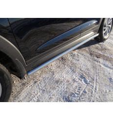 Пороги труба на Hyundai Tucson HYUNTUC15-08