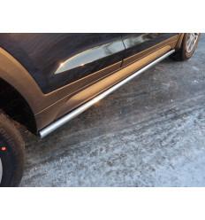 Пороги труба на Hyundai Tucson HYUNTUC15-09