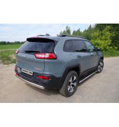 Защита задняя (овальная) на Jeep Cherokee JEEPCHERTRAIL14-10