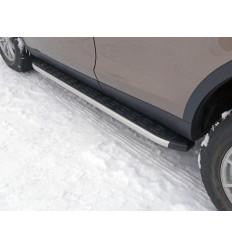 Пороги алюминиевые с пластиковой накладкой на Land Rover Discovery Sport LRDISSPOR15-05AL