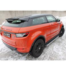 Пороги алюминиевые с пластиковой накладкой на Land Rover Evoque LREVO3D15-01AL