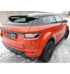 Пороги алюминиевые с пластиковой накладкой (карбон серые) на Land Rover Evoque LREVO3D15-01GR