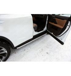 Пороги алюминиевые с пластиковой накладкой на Lexus RX LEXRX200t15-10AL