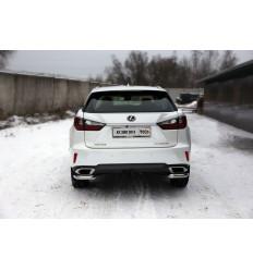 Защита задняя (уголки) на Lexus RX LEXRX200t15-11