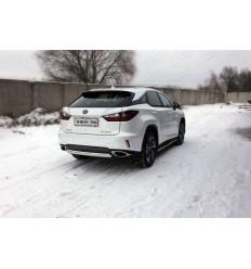 Защита задняя центральная (овальная) на Lexus RX LEXRX200t15-24