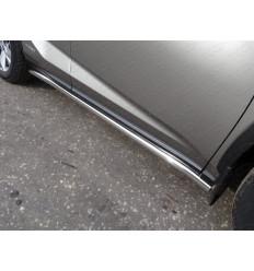 Пороги труба на Lexus NX LEXNX300H14-14