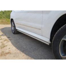 Пороги труба на Mercedes GLK MERGLK220D14-03