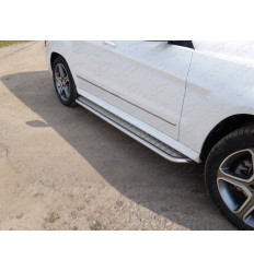 Пороги с площадкой на Mercedes GLK MERGLK220D14-05