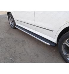 Пороги алюминиевые с пластиковой накладкой на Mercedes GLK MERGLK220D14-07AL