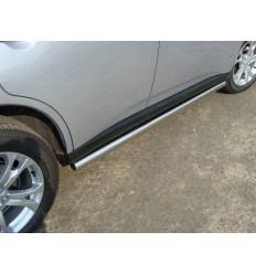 Пороги труба на Mitsubishi Outlander MITOUT12-02