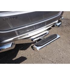 Задняя подножка овальная (под фаркоп) на Mitsubishi Pajero Sport MITPASPOR16-26