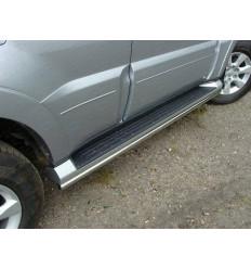 Защита порогов на Mitsubishi Pajero MITPAJ413-03