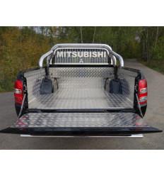 Защитный алюминиевый вкладыш в кузов автомобиля (борт) на Mitsubishi L200 MITL20015-23