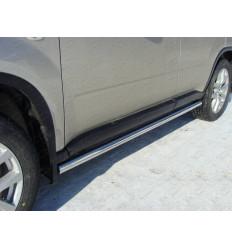 Пороги труба на Nissan X-Trail NISXTR11-03