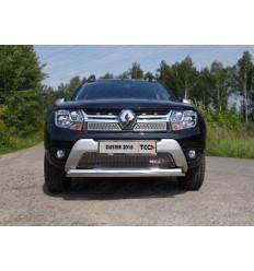 Защита передняя нижняя (овальная) на Renault Duster RENDUST15-06