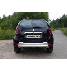 Защита задняя (овальная короткая) на Renault Duster RENDUST15-16