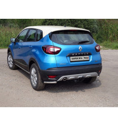 Защита задняя (уголки) на Renault Kaptur RENKAP16-31