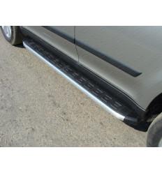 Пороги алюминиевые с пластиковой накладкой (из 2-х мест) на Skoda Yeti SKOYET14-13AL