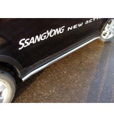 Пороги труба на Ssang Yong Actyon SSANACT11-03